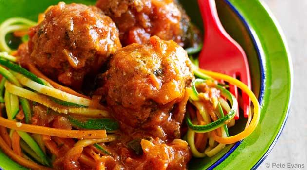 Satisfying, No-Grain Spaghetti and Meatballs Recipe