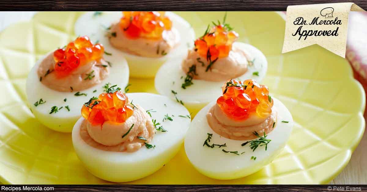Ketogenic recipe wild salmon deviled eggs recipe for Fish eggs food