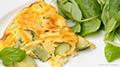 Receta de Omelet de Huevo, Calabacita y Champiñones