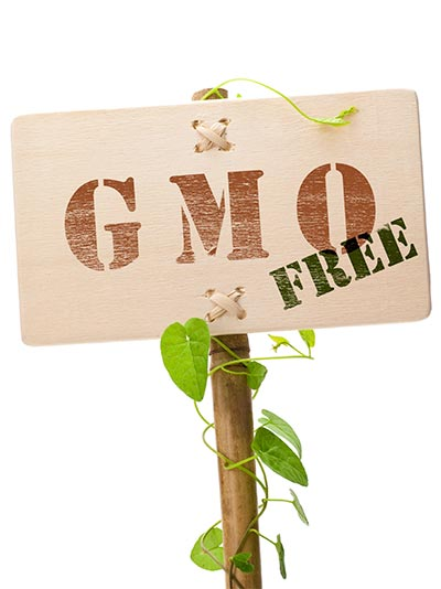 placard for GMO-free label