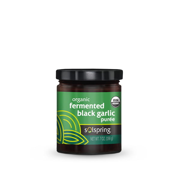 Solspring Organic Fermented Black Garlic Puree