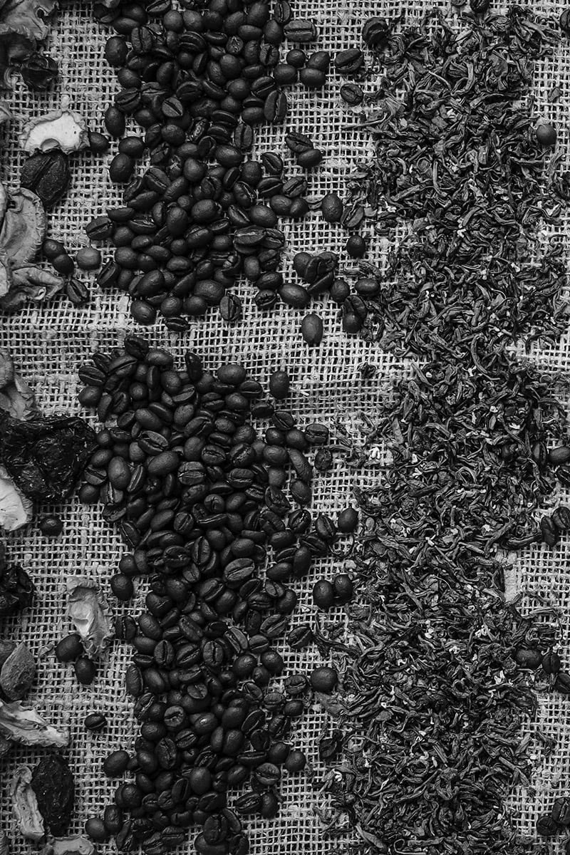 Coffee and Teas -  Grayscaled