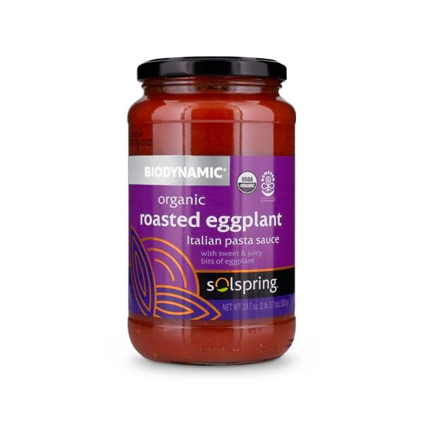 Solspring<sup>®</sup> Biodynamic® Organic Roasted Eggplant Italian Pasta Sauce