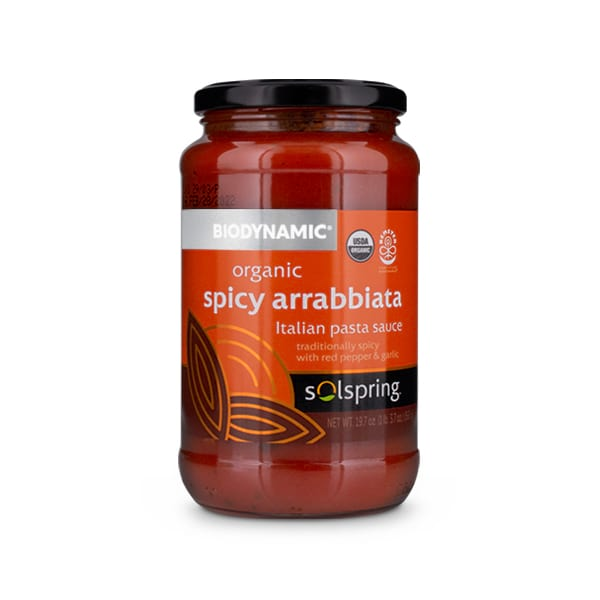 Solspring<sup>®</sup> Biodynamic® Organic Spicy Arrabbiata Italian Pasta Sauce