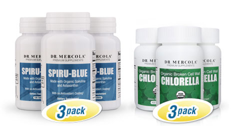 Spiru-Blue 3-Pack + Chlorella 3-Pack