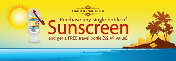Sunscreen Free Travel Bottle Special Offer