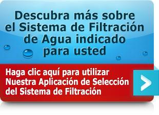 Nuestra Aplicación de Selección del Sistema de Filtración