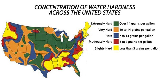 U.S. Water Hardness Map