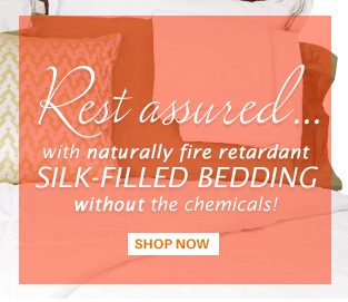 Flame-Retardant Silk Bedding