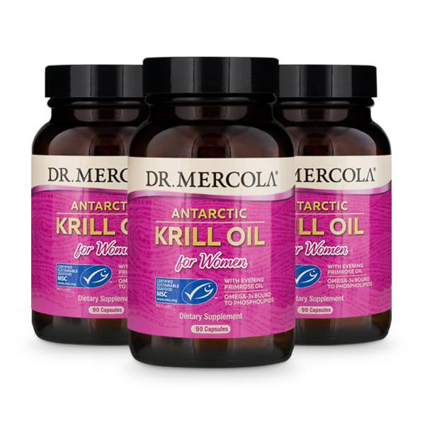 Krill Oil for Women capsules (90 per bottle): 90 Day Supply