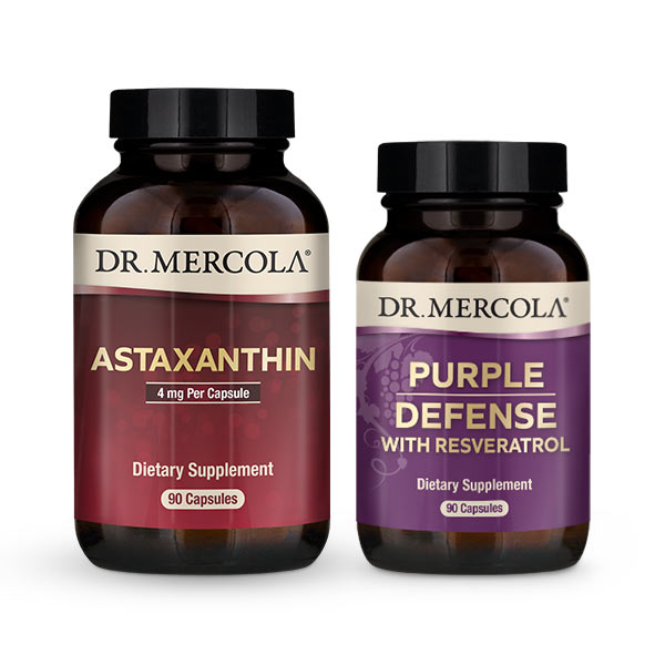 Purple Defense 3-Month Supply and Astaxanthin 3-Pack