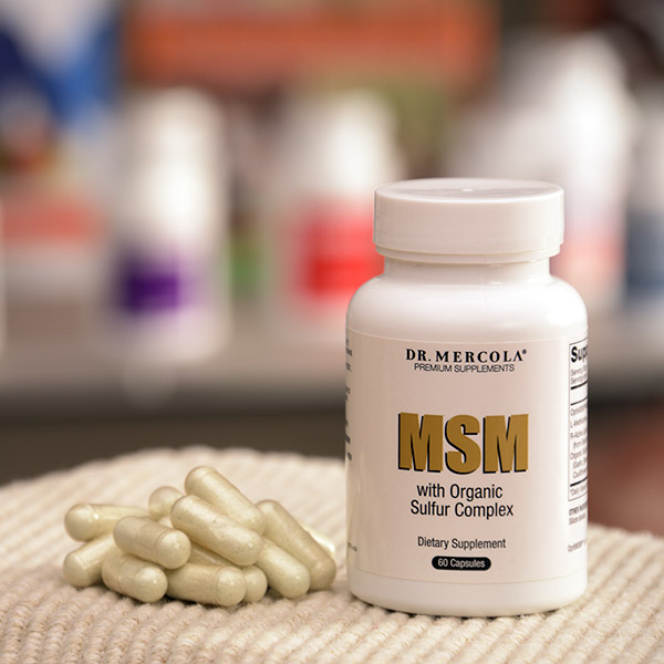 MSM with Organic Sulfur Complex (60 per bottle): 90 Day Supply
