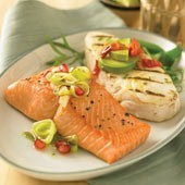 Alaskan Salmon and Halibut Sampler