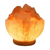 Himalayan Salt Lamp Carved Bowl: 1 lamp