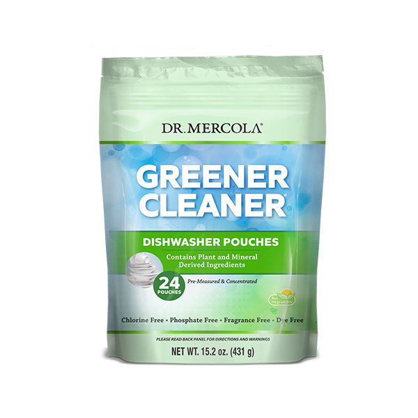 Greener Cleaner Dishwasher Pouches (24 Pouches): 1 Bag