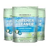 Greener Cleaner Laundry Pouches (24 Pouches): 3-Pack