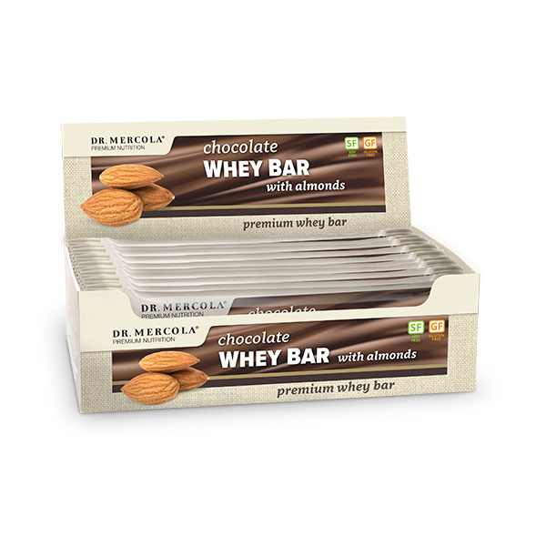Chocolate Whey Bar with Almonds (12 bars per box): 1 box