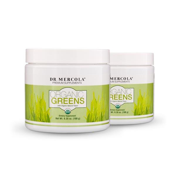 Organic Greens (180g): 2-Pack