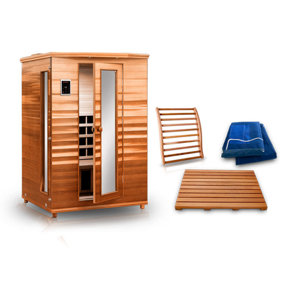 Vitality 3 Person Infrared Sauna Outdoor Bundle