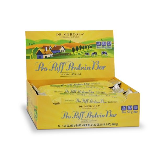 Pro Puff Protein Bar Vanilla Almond (12 bars per box): 1 Box