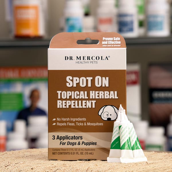 Spot On Topical Herbal Repellent For Dogs & Puppies
