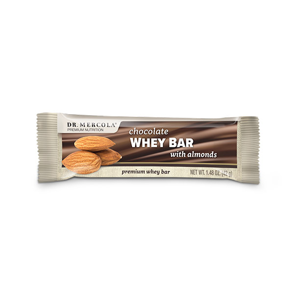 Chocolate Whey Bar with Almonds: 1 Bar