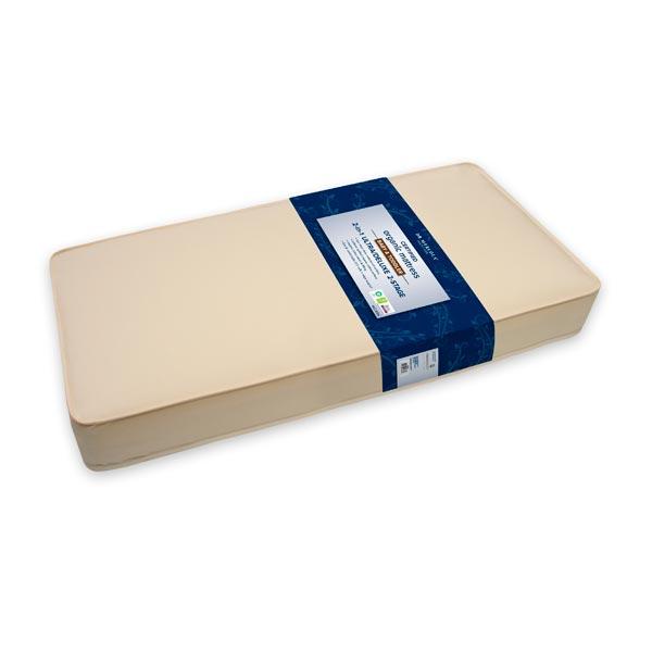 Colchón para Cuna Ligero de 2 Etapas de Algodón Orgánico 2 en 1 Ultra/Deluxe