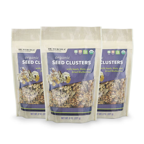 Organic Seed Clusters with Dried Mulberries - 3 Pack