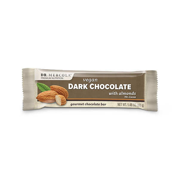 Vegan Dark Chocolate Bars w/ Almonds 1 bar