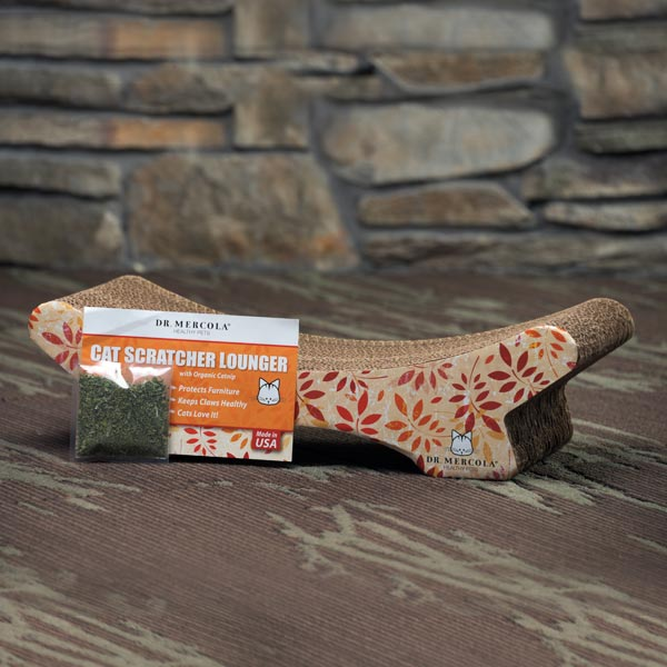 Cat Scratcher Lounger with Organic Catnip