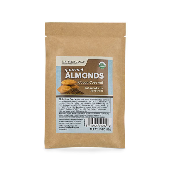 Organic Almonds - Cocoa Covered