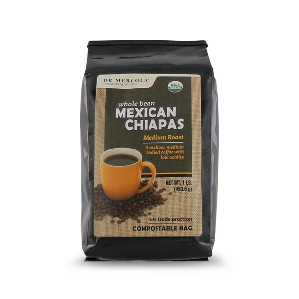 Organic Whole Bean Coffee - Mexican Chiapas (1lb): 1 Bag