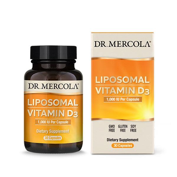 Liposomal Vitamin D3 1000 IU (30 per bottle): 30 Day Supply