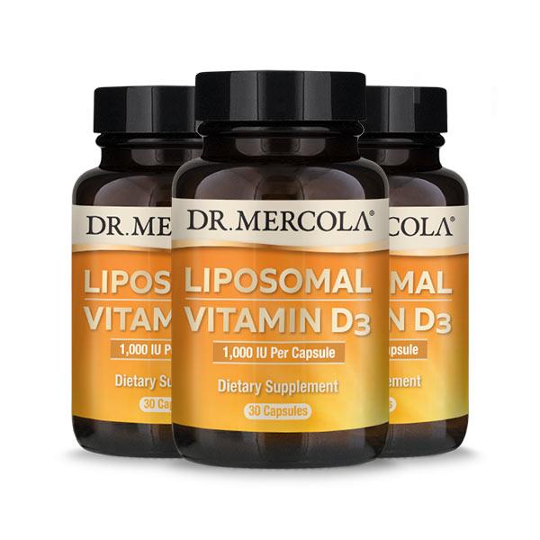 Liposomal Vitamin D3 1000 IU (30 per bottle): 90 Day Supply