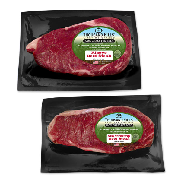 100% Grass Fed Ribeye & New York Strip Bundle