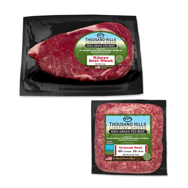 100% Grass Fed Ribeye & Ground Beef Bundle: 16 Units