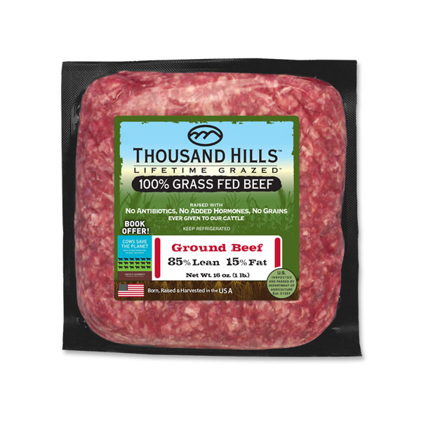 100% Grass Fed Ground Beef (1lb. per unit): 16 Units