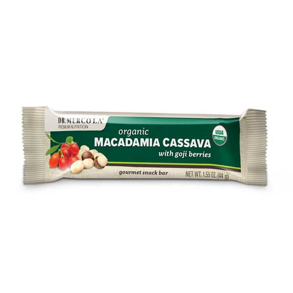 Macadamia Cassava Bars with Goji Berries 1 Bar