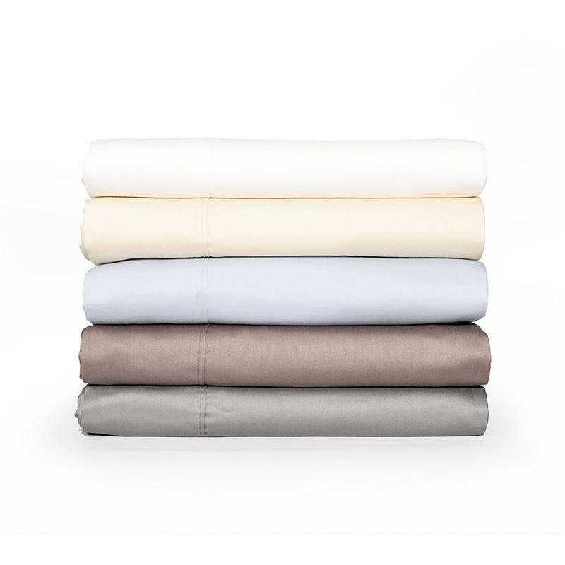 Sábanas de Algodón Orgánico SITO™- Twin/Blanco