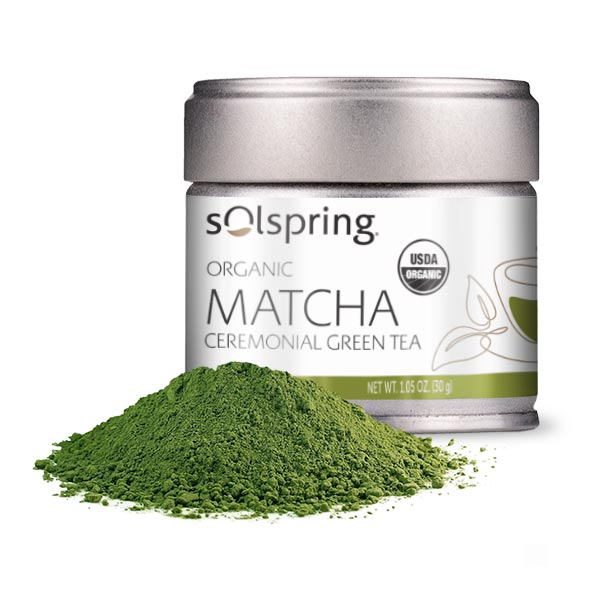 Solspring™ Organic Matcha Ceremonial Green Tea (1.05 oz): 1 Tin