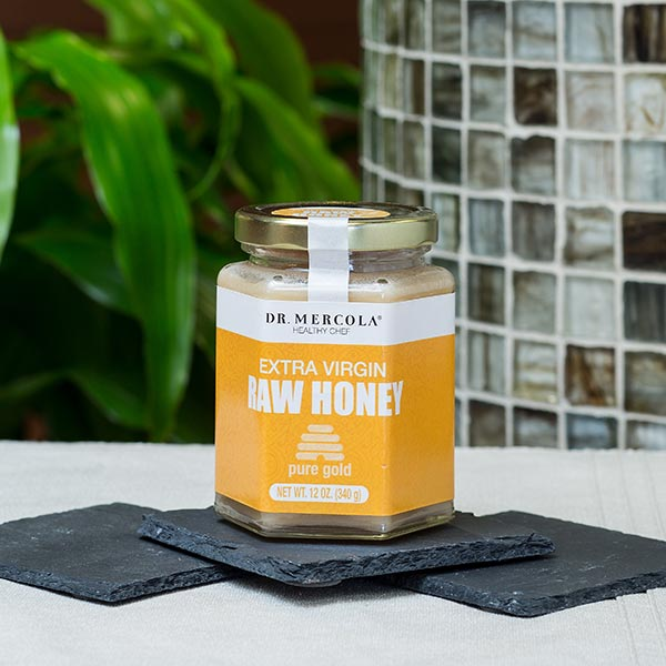 Pure Gold Raw Honey (16 Servings per jar): 1 jar