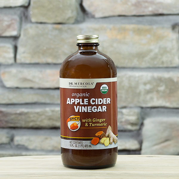 Organic Apple Cider Vinegar - Spicy (16 fl. oz. per Bottle): 1 Bottle