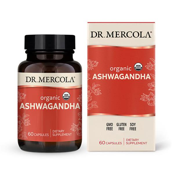 Organic Ashwagandha (60 per bottle): 30 Day Supply