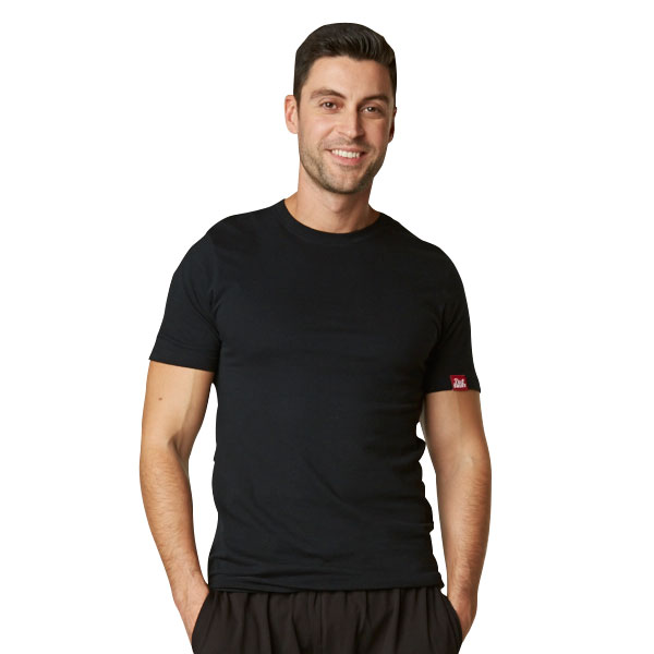 Men's Organic Cotton Crew Neck Dirt Shirt: Black (S)