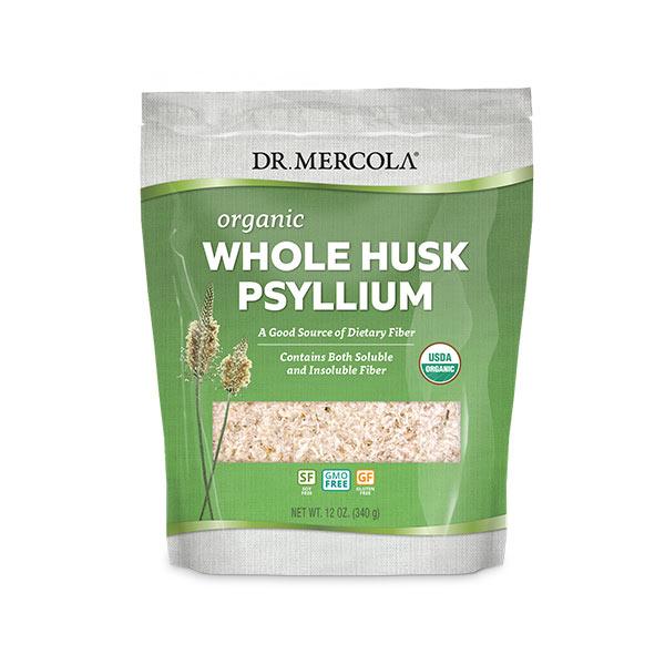 Organic Whole Husk Psyllium (12 oz): 1 Bag