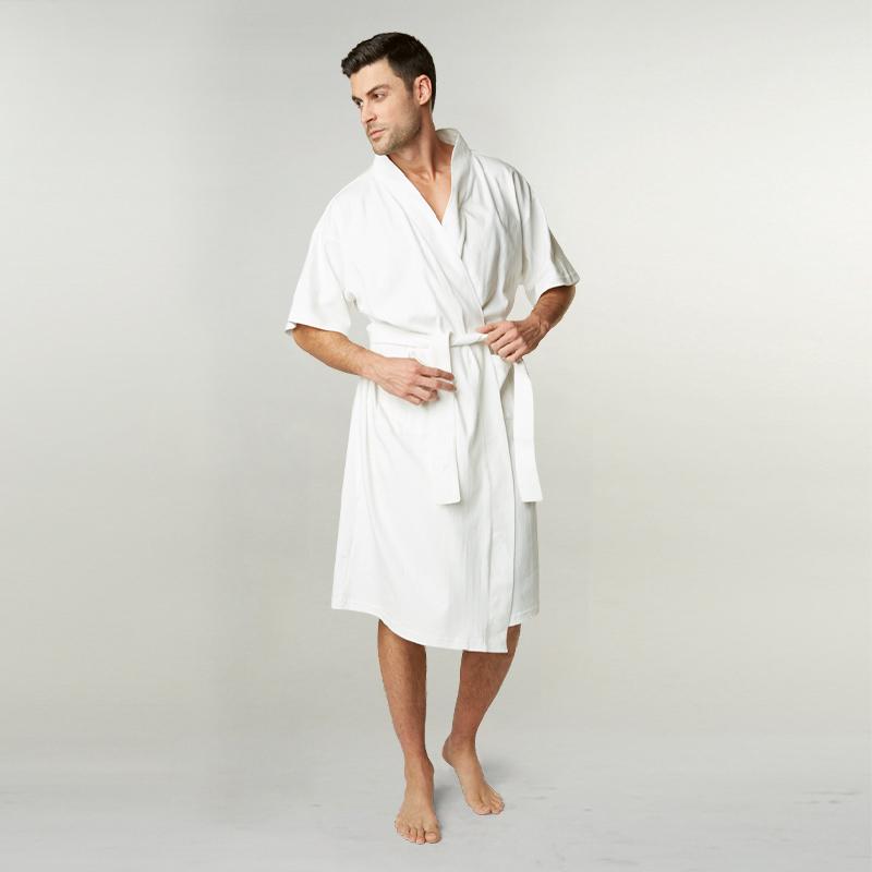Adult SITO Organic Cotton Kimono Robe: White (One Size)