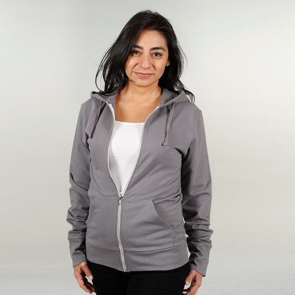 Adult SITO Organic Cotton Hooded Sweatshirt: Gray (S)
