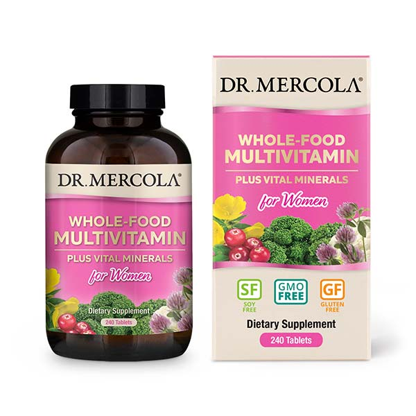 Multivitaminas de Alimentos Enteros para Mujer (240 por envase): Suministro para 30 Días