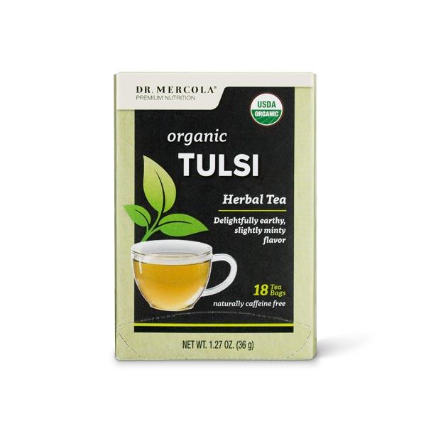 Organic Tulsi Tea (18 Bags per Box): 1 Box