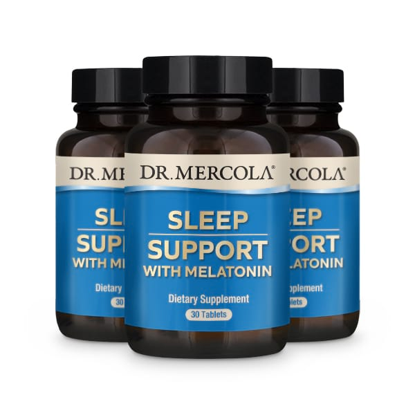 Sleep Support with Melatonin (30 per bottle): 90 Day Supply